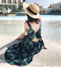 2019 Spring and summer new style Bohemian back with long dress Vacation travel Beach print by the sea