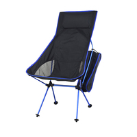 Picnic Camping Hiking Aluminum Alloy Foldable Outdoor BBQ High Load Travel Seat Fishing Chair Anti Slip Portable Compact