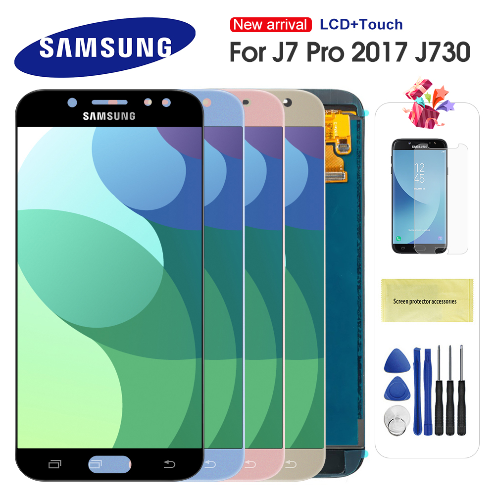 For <font><b>Samsung</b></font> <font><b>Galaxy</b></font> <font><b>J7</b></font> Pro <font><b>2017</b></font> J730 J730F LCD <font><b>Display</b></font> and Touch Screen Digitizer Assembly For <font><b>J7</b></font> LCD Can Adjust Brightness image
