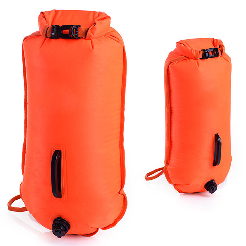 Swimming Bag Inflatable Swimming Buoy Life Bag Tow Floating Dry Bag Swimming Diving Training Safety Signal Air Bag MultiFunctio