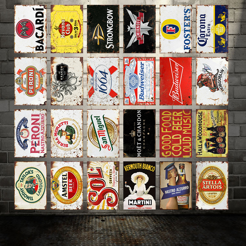 [ WellCraft ] Stella Artois Fosters Beer Metal Signs Posters Vintage Wall Painting Custom Pub Decor WX-8