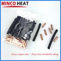 De fibra de carbono calefacción de piso de Kits de conexión de tubo de cobre y el calor mangas retráctiles cada 20 unids/bolsa