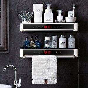 Image 1 - Punch livre organizador do banheiro prateleira cosméticos shampoo rack de armazenamento de banho toalha de cozinha titular artigos do agregado familiar acessórios do banheiro