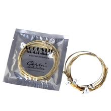 6pcs Universal Acoustic Guitar String Brass Hexagonal Steel Core Strings For Musical Instruments Accessory