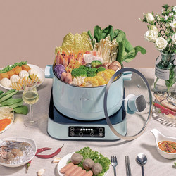Electric Pot Hot Pot Intelligent Automatic Lifting 2.5L Electric Cooker Steamer