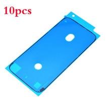 10 pçs impermeável adesivo para iphone 7 7 6s plus plus 8x8p 3m adesivo fita pré-corte lcd tela quadro peças de reparo