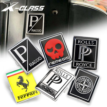 Motorcycle Front Fairing Badge Plate Tablet Square Plastic Sticker Decal Logo For Vespa