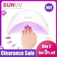 SUN9c PLUS UV โคมไฟ SUNUV เครื่องเป่าเล็บ LED สำหรับบ่มเจลทั้งหมดเล็บเครื่องมือเล็บสำหรับเล็บ Salon Perfect Thumb แห้ง SOLUTION