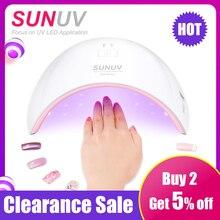 SUN9c Plus lampa UV LED SUNUV suszarka do paznokci do utwardzania wszystkich żeli do paznokci Manicure narzędzia do salon paznokci idealny kciuk suszenia rozwiązanie