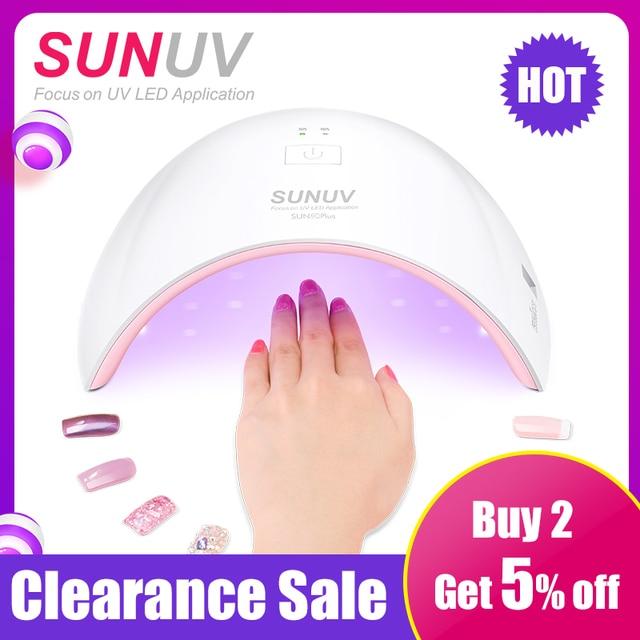 SUN9c Plus Đèn UV Sunuv LED Máy Sấy Móng Tay Cho Chữa Tất Cả Các Gel Làm Móng Tay Nail Móng Tay Salon Hoàn Hảo Ngón Tay Cái sấy Giải Pháp