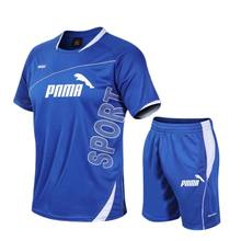 Men's two-piece suit, nine-point top and shorts, sportswear, football uniform, track suit, 2021 summer new style