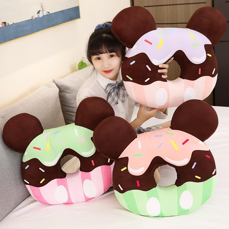 chocolate donut brinquedo de pelucia travesseiro de alimentos recheados biscoitos boneca macia simulacao mouse donut travesseiro