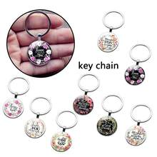 1pc Bible Verse Key Chains Handmade Glass Key Ring Scripture Quote Faith Jewelry Women Men Charm Flower Keychain Christian Gift(China)