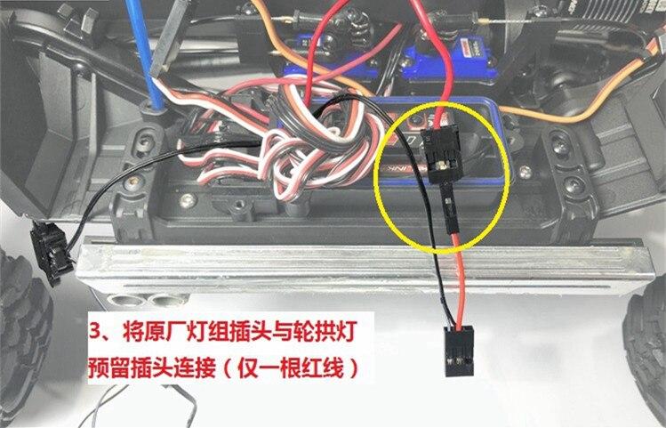 Roda sobrancelha lâmpada kit de luz led
