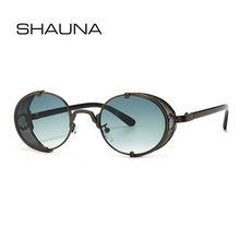 Женские и мужские солнцезащитные очки shauna круглые в стиле