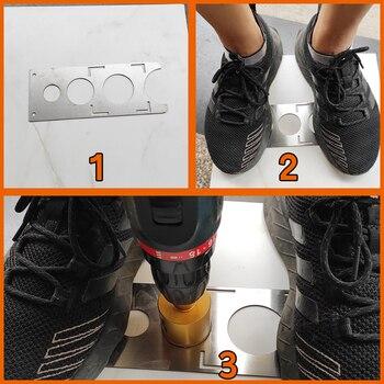 دائم قياس دقيق الفولاذ المقاوم للصدأ DIY المحمولة سيراميك هول الرقصة لكمة محدد العالمي دليل حفر