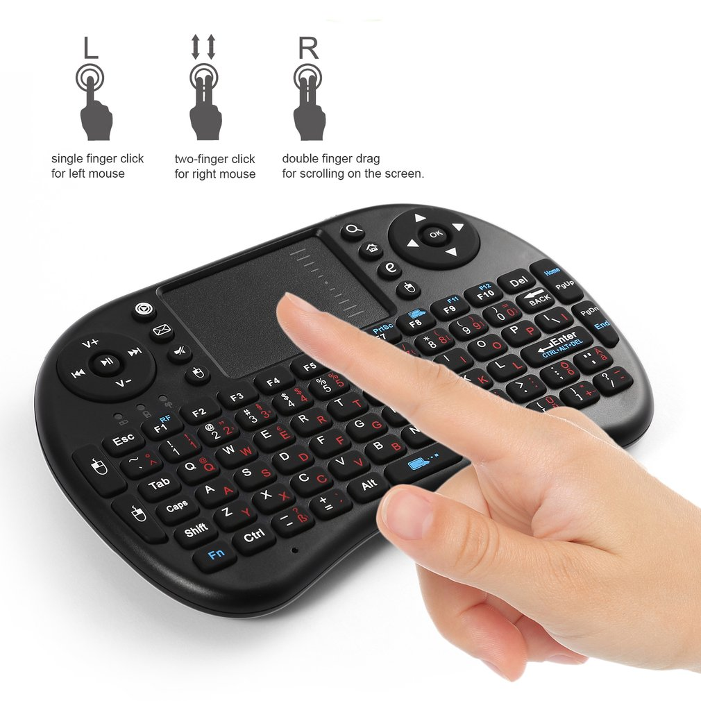 <font><b>i8</b></font> Mini <font><b>2.4GHz</b></font> <font><b>Wireless</b></font> BT Backlight Touchpad <font><b>Keyboard</b></font> with Mouse for PC/PAD/for XBox 360/PS3/Android TV Box image