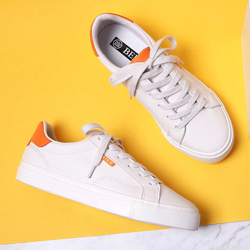 Women Sneakers Leather Shoes 2020 Spring Trend Casual Flats Sneakers Female New Fashion Comfort Color Vulcanized Shoes Female