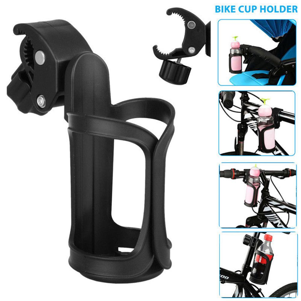 Stroller Cup Holder Bike and Wheelchair Universal Bottle Drink Cup Holder Organizer with a Hook for Baby Pushchair//Buggy Black