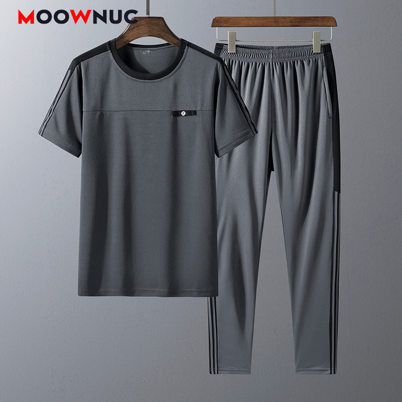 Top SaleTracksuits Men T-Shirt Pants Sportswear Fitness Summer Fashion Short Jogger Casual New