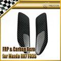 Автомобильный Стайлинг Mazdaspeed стиль углеродное волокно задний спойлер Торцевая крышка глянцевая отделка MS крыло разветвитель для губ Дрифт...