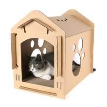 Картонная коробка из гофрированной бумаги для кошек Когтеточка