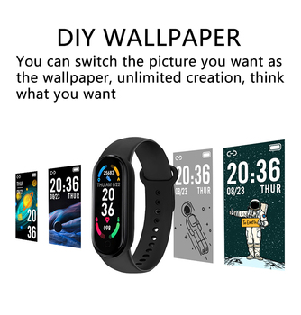2021 New M6 Smart Watch Men Women Fitness Sports Smart Band Fitpro Version Bluetooth Music Heart Rate Take Pictures Smartwatch 4