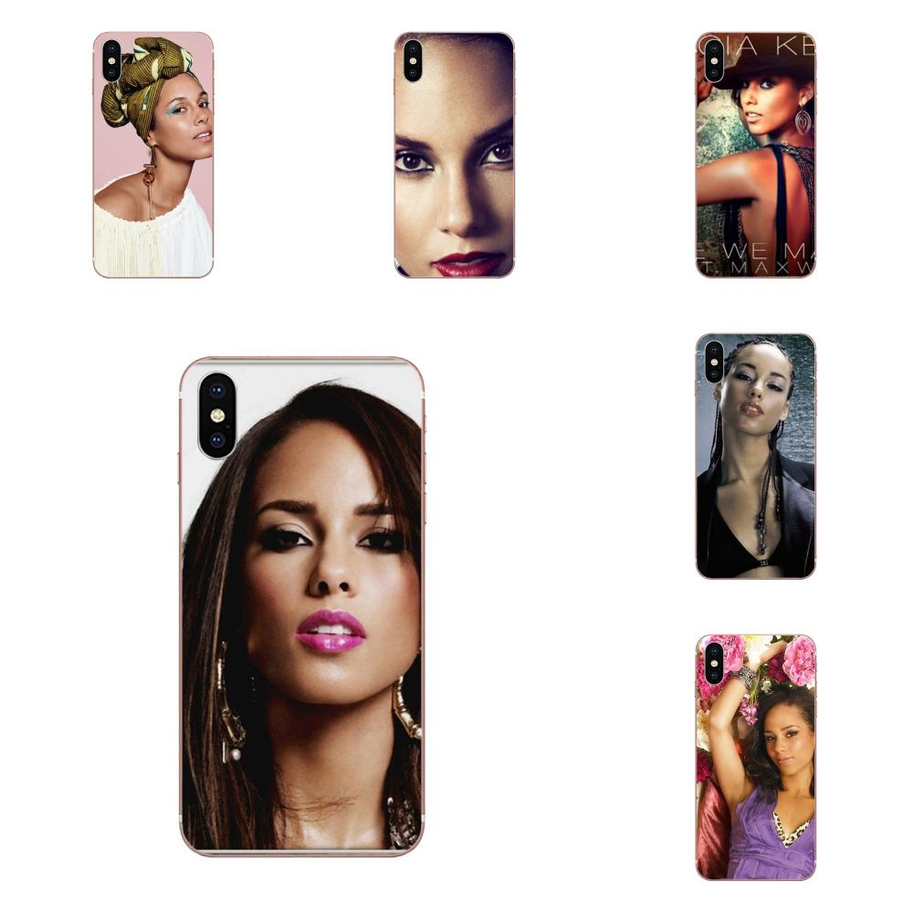 Cases For Samsung <font><b>Galaxy</b></font> Note 5 8 9 S3 <font><b>S4</b></font> S5 S6 S7 S8 S9 S10 5G <font><b>mini</b></font> Edge Plus Lite <font><b>Sexy</b></font> Singer Girl Alicia Keys image