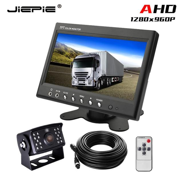 960P Rear view truck monitor camera 7 Inch AHD wired backup camera system reversing camera system for Truck/RV/Bus