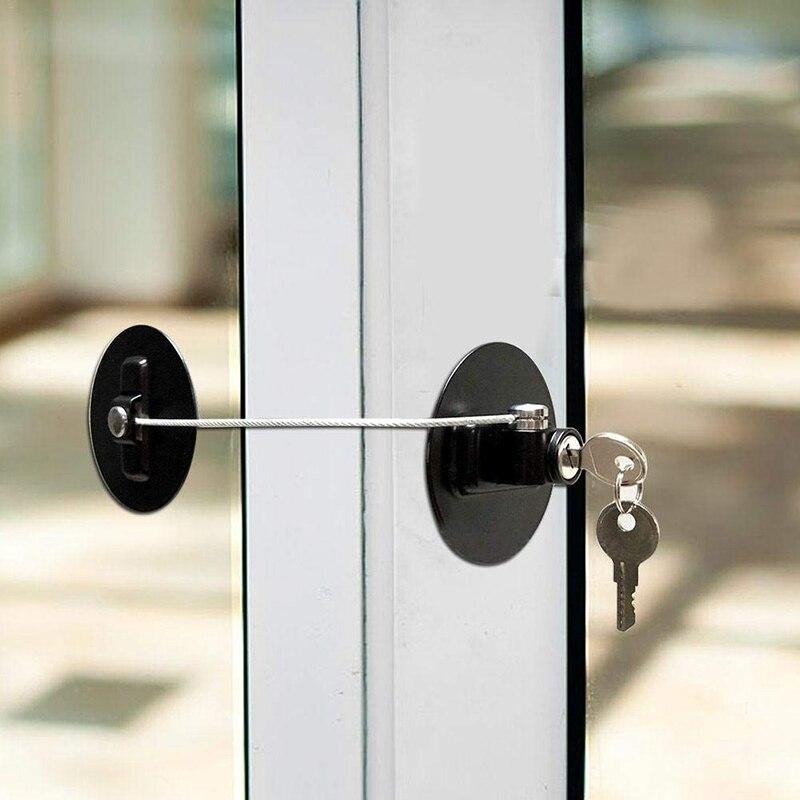 Kinder Fenster Kühlschrank Sicherheit Schloss mit Edelstahl Schlüssel Zylinder Schrank Sicherheit Begrenzen Lock