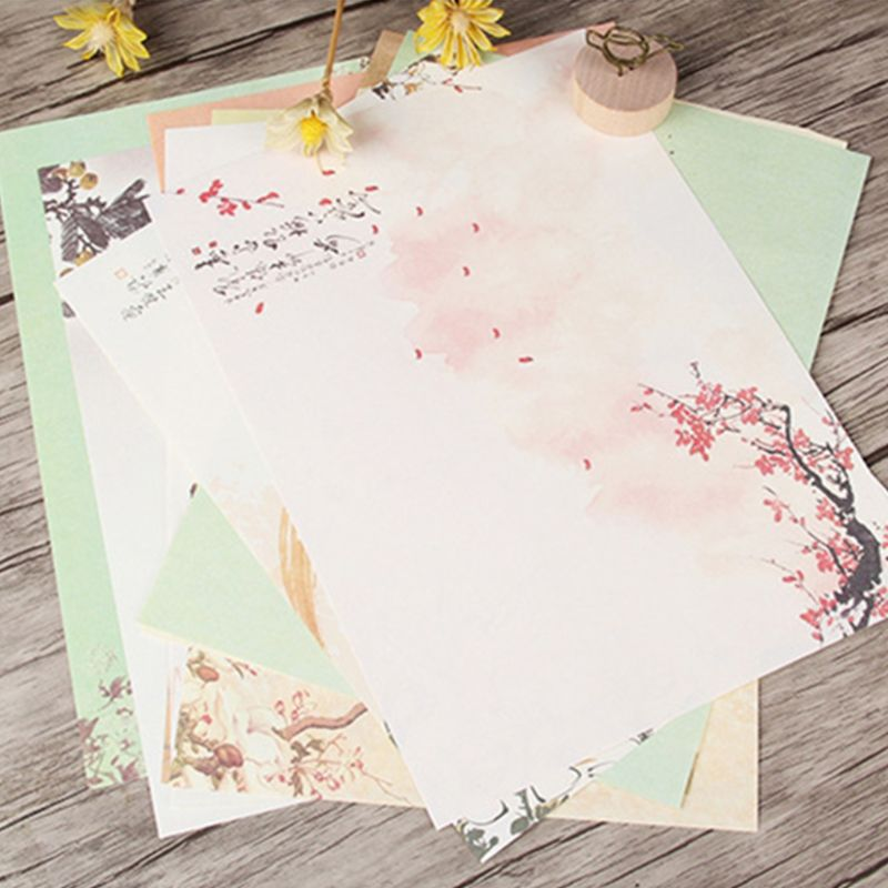 32pcs/Set Home Vintage Writing Letter Paper Retro Writing Stationery School Supplies