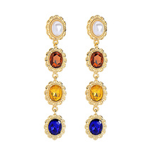 2019 Gold Color Earrings Classic Fashion Crystal Women  Jewelry