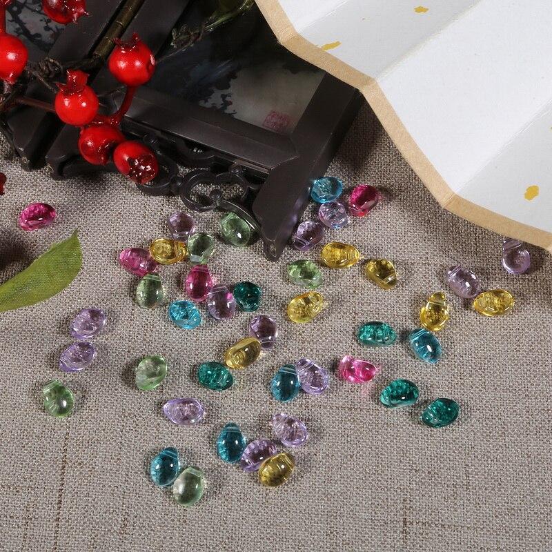 60 X Cuentas de Vidrio Cristal Facetado Lágrima Peridoto ab 8X11MM