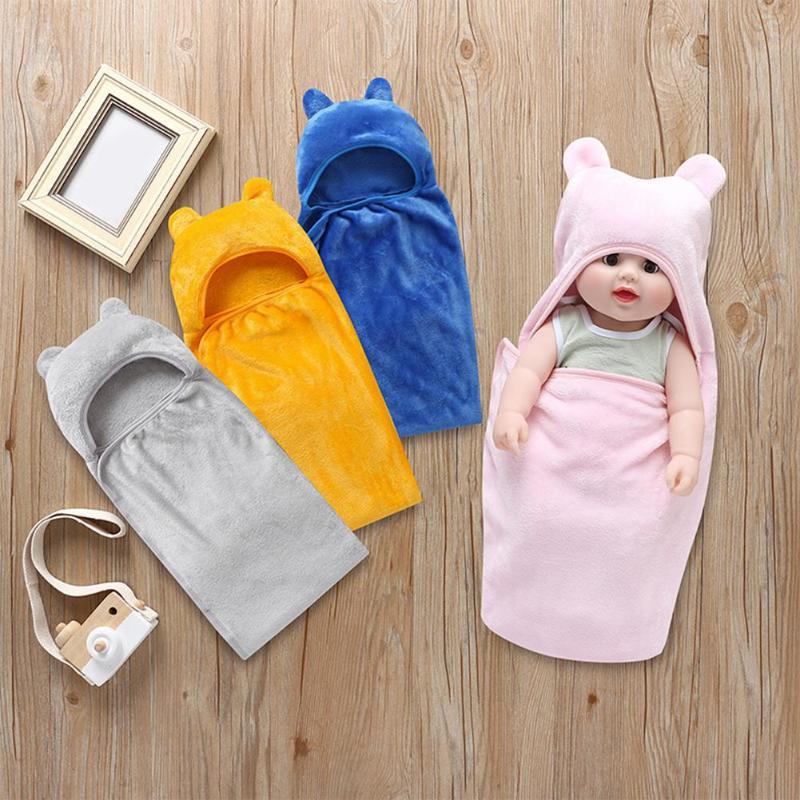 Baby Flannel Swaddle Infant Blanket Sleeping Bag For Newborns Envelopes