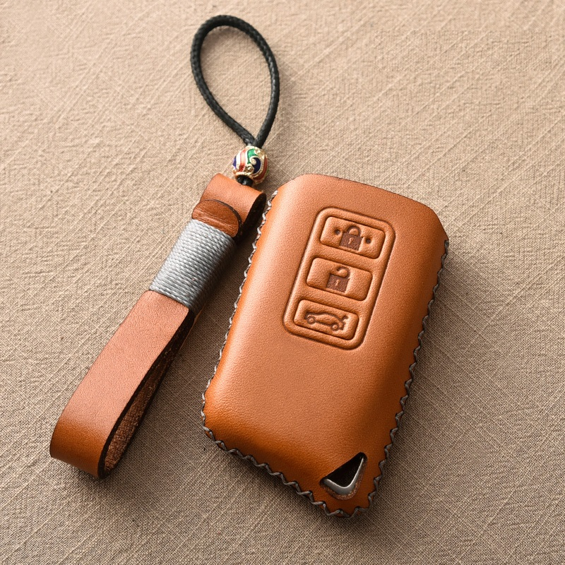 Genuine Leather Car Remote Key Cover Case For Lexus IS200 IS350 ES200 ES250 ES300H GS200T GS300H NX300 <font><b>RX200</b></font> RX450 LX Keys image