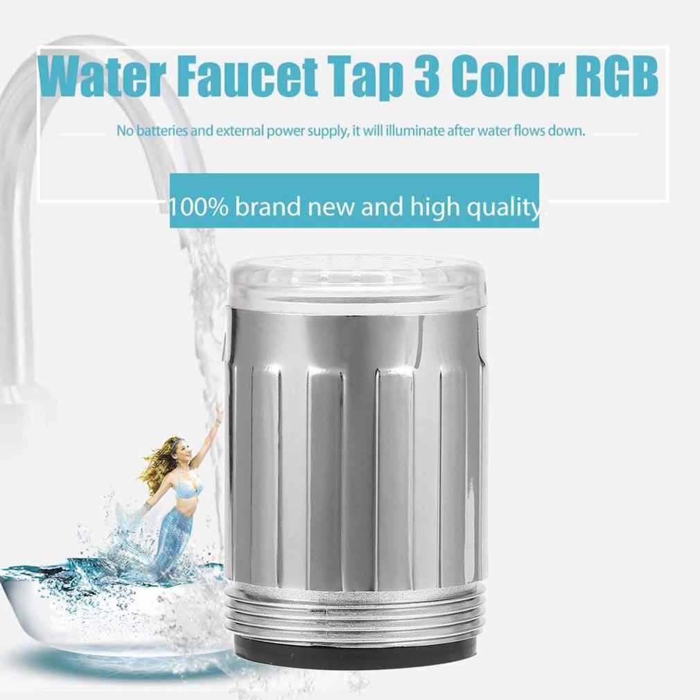 Ducha colorido grifo colores 3 Grifo cambio para casa y cocina agua TE grifo de luz para luces LED corriente la cabeza