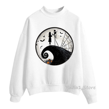 Polerones mujer 2019 horror movie nightmare before christmas hoodies women halloween sweatshirt autumn winter clothes sweat tops