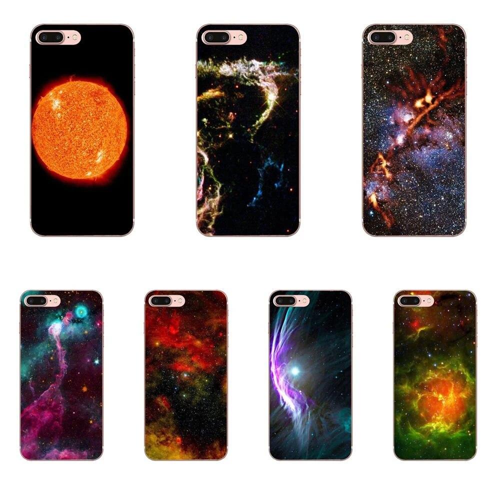 Mega lumineux yeux étoile univers chat mince coque en silicone pour Apple iPhone 4 4S 5 5C 5S SE 6 6S 7 8 Plus X XS Max XR