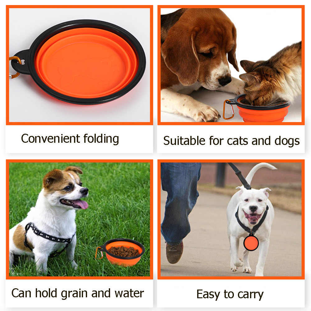 1000 ミリリットルペットボウル折りたたみシリコーン旅行犬ボウルウォーキングポータブル水ボウル小中犬猫ボウルペット食べる食器