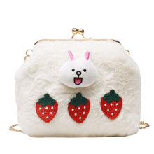 jacket single shoulder slanting chain lady bag fall and winter 2019 new fashion small square cartoon cute
