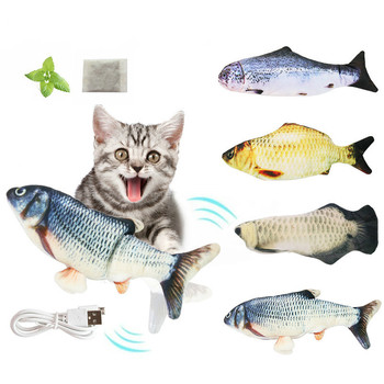 Electronic Cat Toy 3D Fish Electric Simulation Fish Toys for Cats Pet Playing Toy cat supplies juguetes para gatos 1