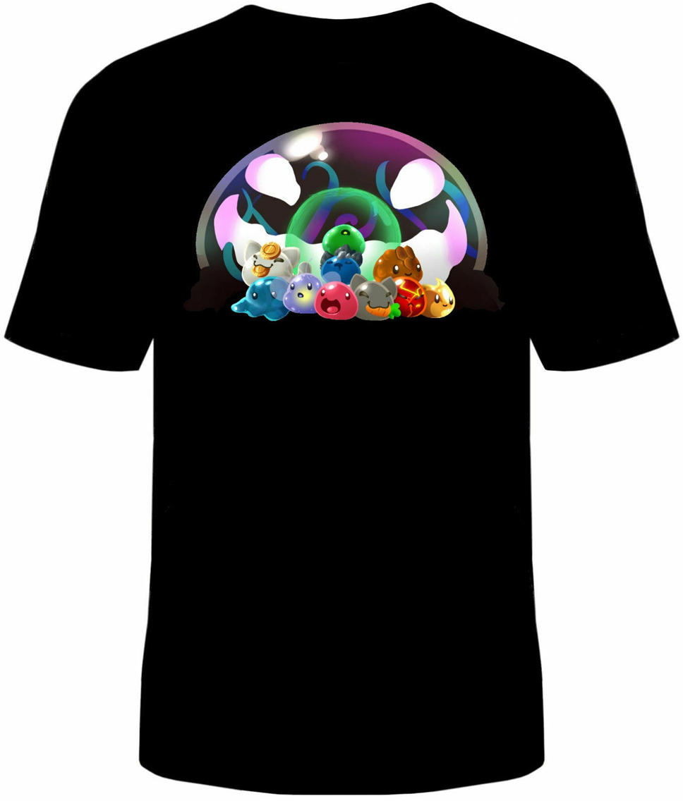 Neu <font><b>Slime</b></font> <font><b>Rancher</b></font> T-<font><b>Shirt</b></font> Unisex Mens Cotton <font><b>Slimes</b></font> Tarr Video Game For Youth Middle-Age Old Age Tee <font><b>Shirt</b></font> image