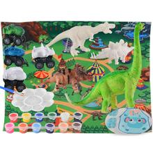 Ręcznie malowany obrazek rysunek edukacyjne zabawki Puzzle dla dzieci wczesna edukacja zabawka 3D Model dinozaura ręcznie kolorowy malowany dla dzieci tanie tanio CN (pochodzenie) Europa certyfikat (CE) 2-4 lat Zwierzęta i Natura Drawing Toys Plastic about 22 5*11 5*14cm 8 86*4 53*5 51in
