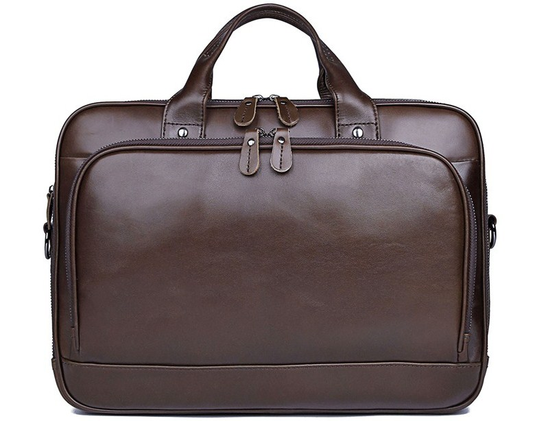 14inch Cow Skin Office Business Men Handbag Laptop Briefcase High Quality