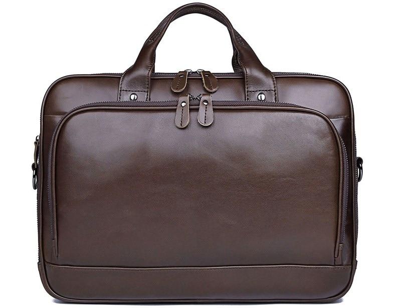 14inch Cow Skin Office Business Men Handbag Laptop Briefcase High Quality
