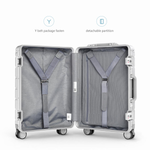 Image 5 - Xiaomi Spinner Wheel Luggage Travel Suitcase 20 inch Carry on with Y belt Pull rod top grade all aluminum magnesium alloy