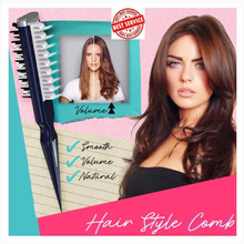 Volumia Style Comb – Instant Hair Volumizer Comb Sharks Back Combing Hair Brush Curly Hairstyle Professional Portable Comb