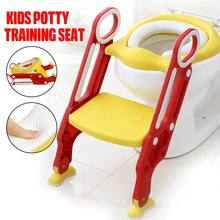 Folding Unisex Infant Potty Seat Urinal Backrest Training Chair with Step Stool Ladder Training Seats For Children