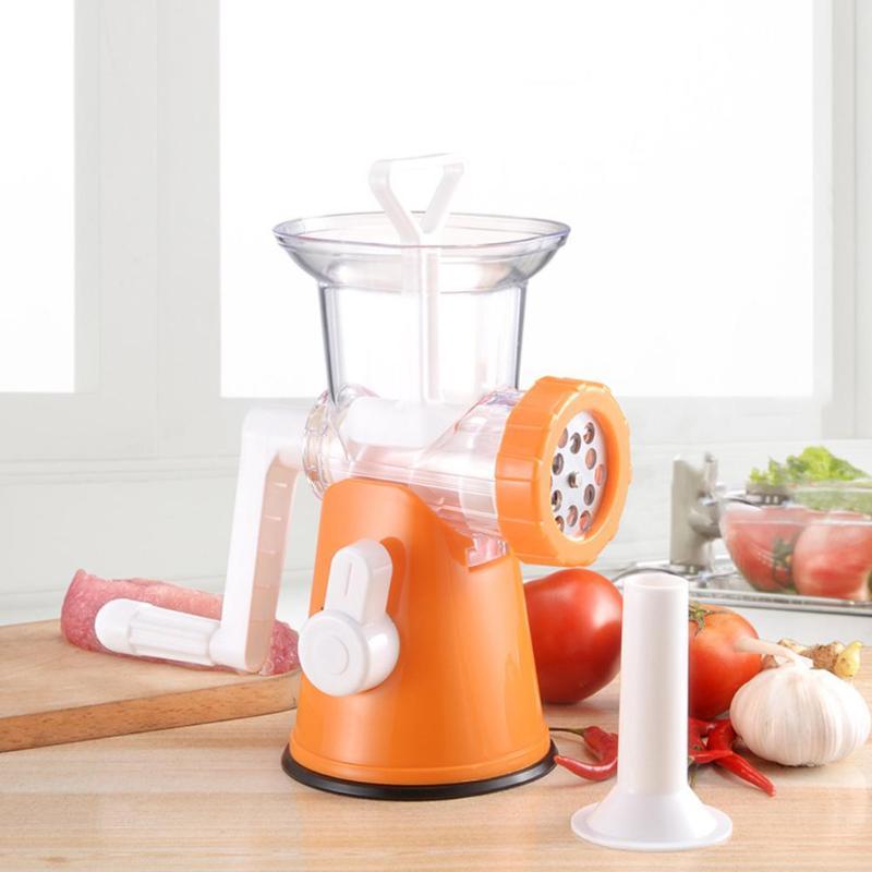 Manual Meat Grinder Pasta Maker Stainless Steel Home Kitchen Fruit Vegetable Food Chopper Mincer Enema Machine Food Processors