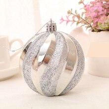 12Pcs 6CM Christmas Ball Rhinestone Glitter Baubles Balls Xmas Tree Ornament Decoration Plastic